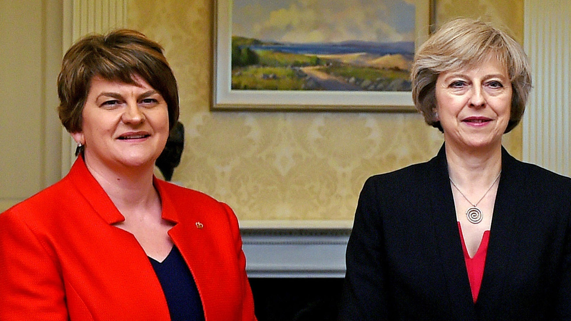 Adams tells Theresa May she's in breach of the Good Friday Agreement